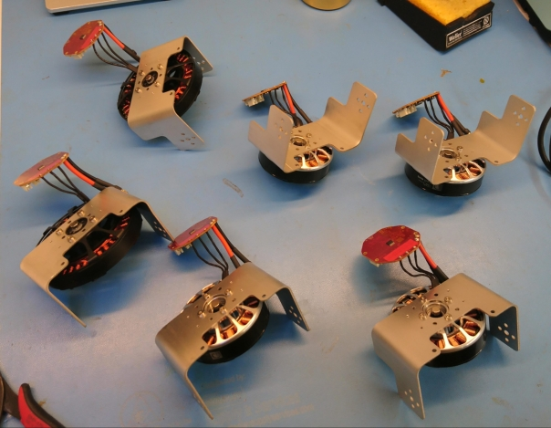 Controllers soldered to motors