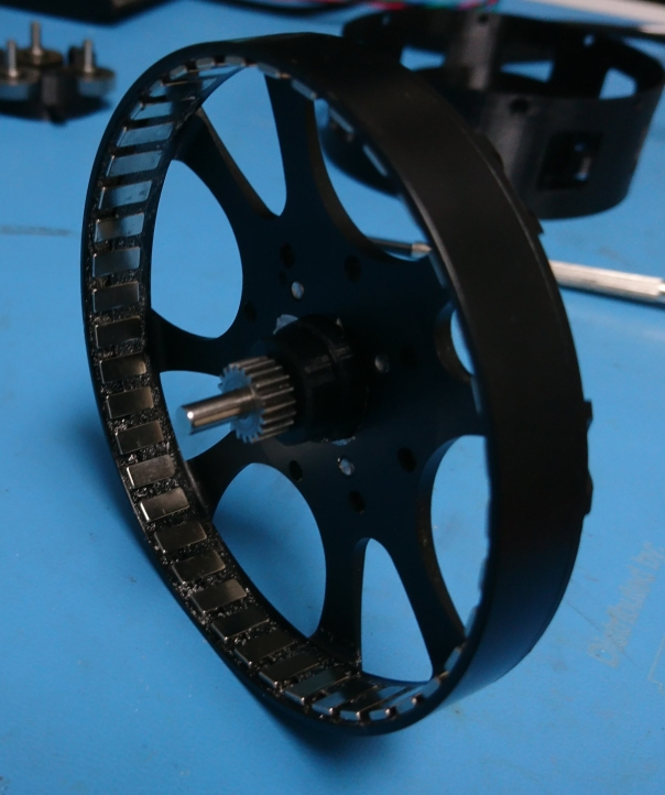 Rotor with sun gear, inside view