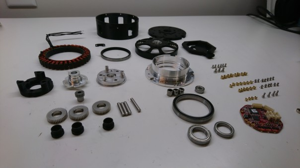 All the parts laid out