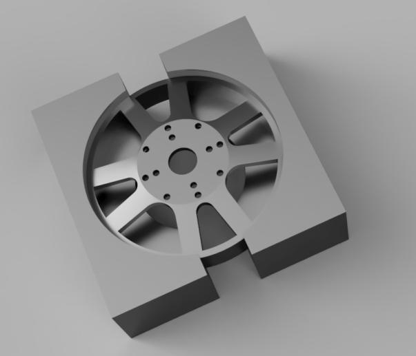 Rendering of rotor fixture